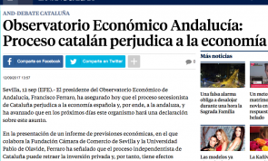 Observatorio Económico Andalucía: Proceso catalán perjudica a la economía