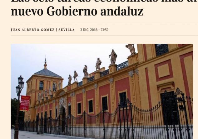 Las seis tareas económicas más urgentes para el nuevo Gobierno andaluz